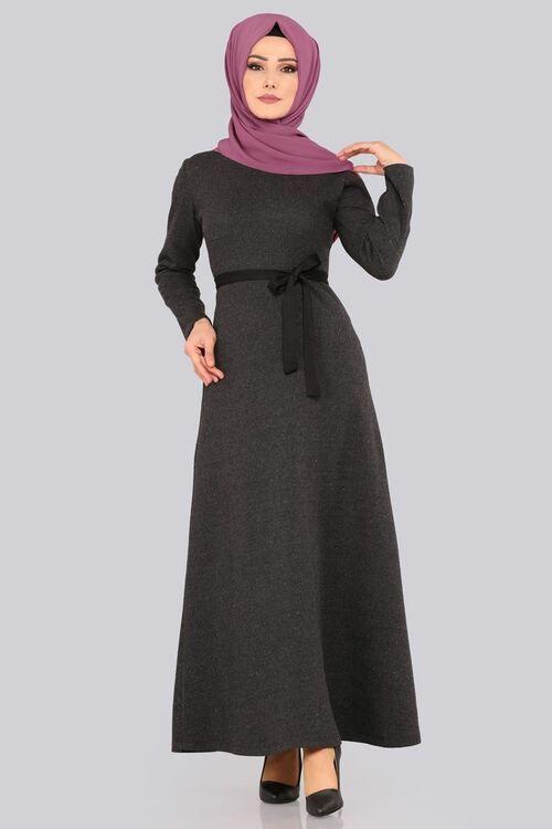 Modaselvim Elbise Baliksirti Desen Kislik Elbise Ukb2017 Siyah Dresses Fashion High Neck Dress