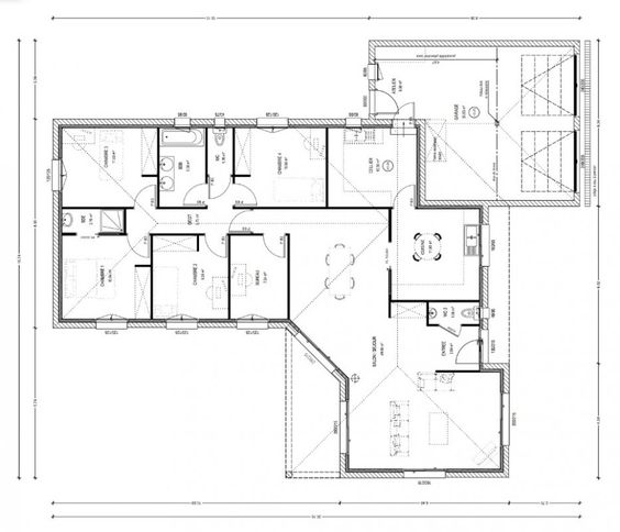 Plan De Maison 3 Chambres Home Sweet H Pinterest Of Plan Maison 6