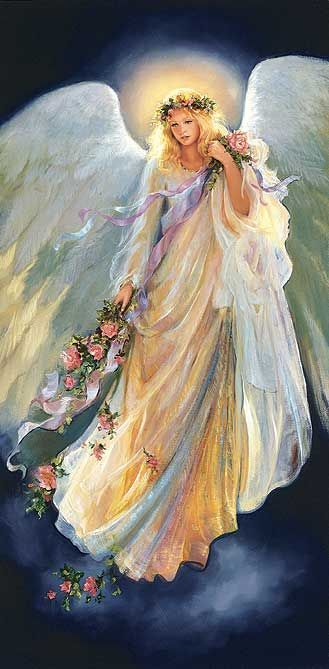 Messenger of Love - my favorite painting of an angel - by Mary Baxter St. Clair