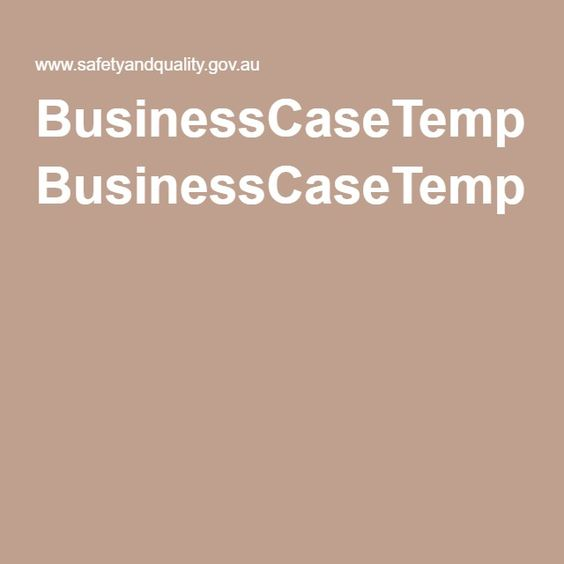 Business+Case+Development+Framework Business Case Template - business case template word