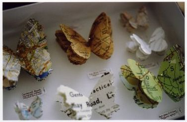 butterflies from maps and repurposed books