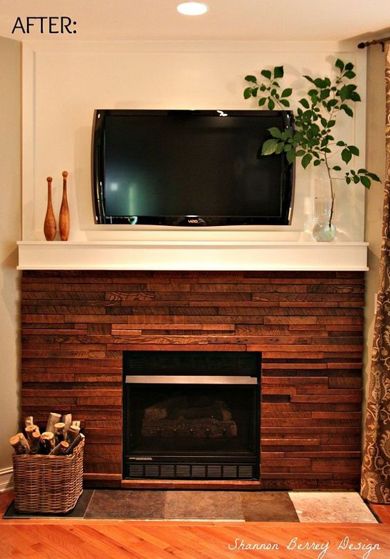 My Rustic DIY Fireplace Makeover Stains Fireplaces And