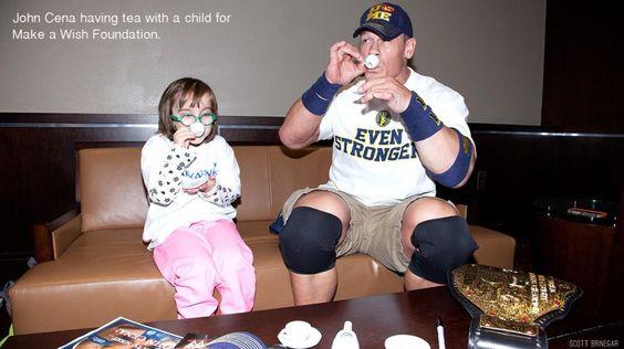 John Cena having tea with a little girl. RESPECT.
