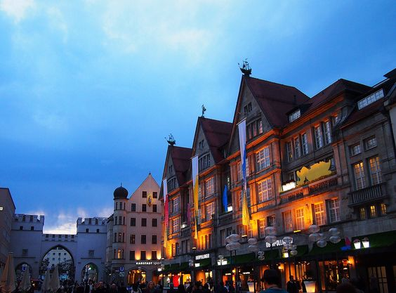 pedestrian zone Munich