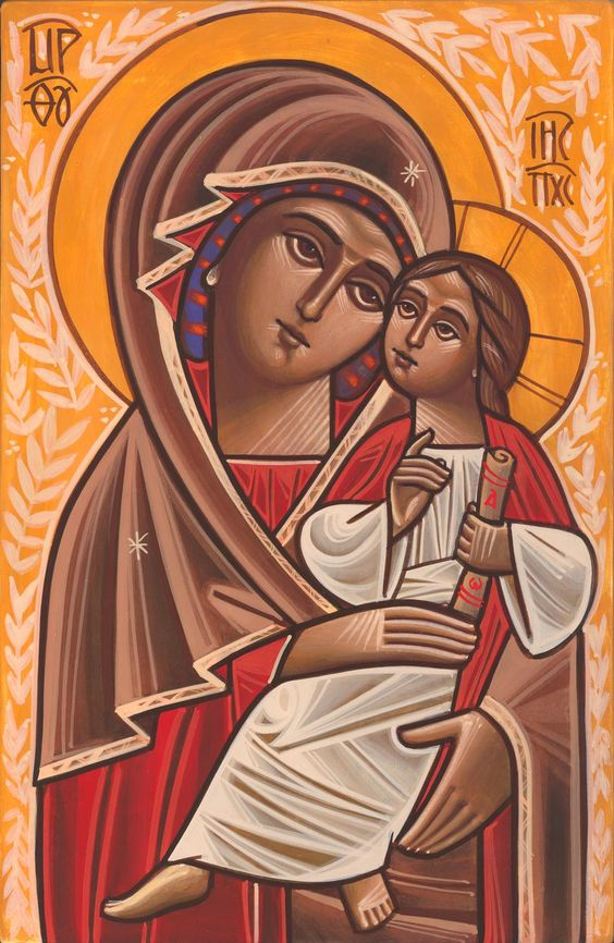 Theotokos coptic Icon by Fadi Mikhail