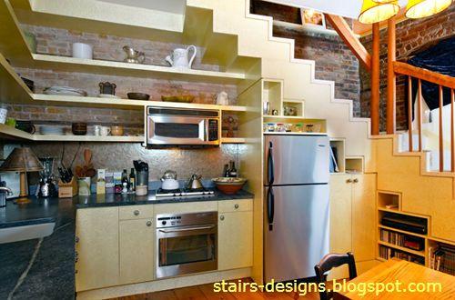 small-kitchen-under-stairs