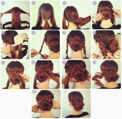 Phenomenal Chignons Buns And Braided Buns On Pinterest Short Hairstyles Gunalazisus
