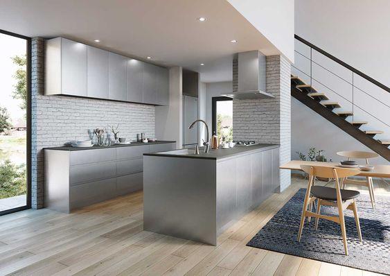 ステンレス キッチン LAアーキテクト ペニンシュラ イメージ