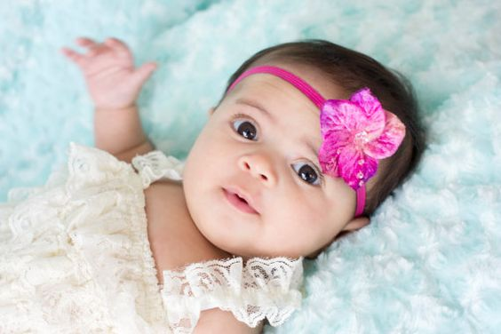Baby Headband Baby Pink Bow Small Baby Bow by LittleMissBlingNYC
