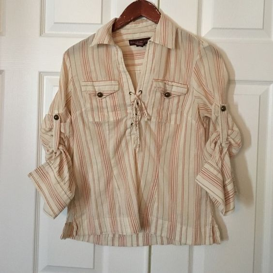 Bandolino boho shirt Can be worn several ways Bandolino Tops Blouses