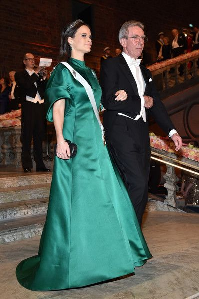 Princess Sofia of Sweden Photos Photos - Princess Sofia of Sweden and Professor Jean-Pierre Sauvage, laureate of the Nobel Prize in Chemistry arrive at the Nobel Prize Banquet 2015 at City Hall on December 10, 2016 in Stockholm, Sweden. - Nobel Prize Banquet 2016, Stockholm