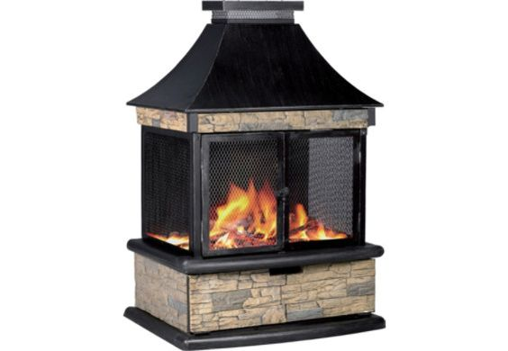 Propane fireplace fireplaces and patio on pinterest for Foyer exterieur propane