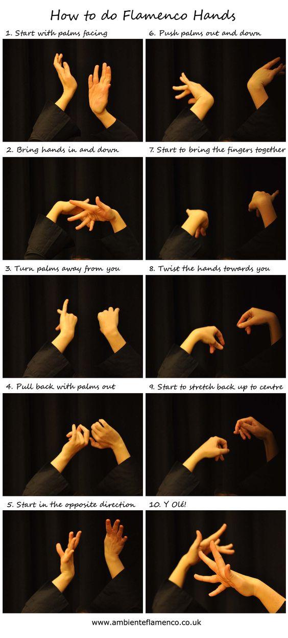 How to do Flamenco hands!                                                                                                                                                      More