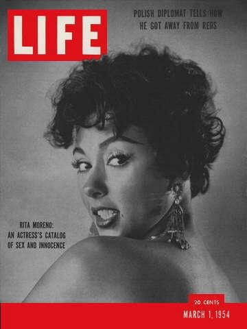 Rita Moreno on the cover of LIFE in 1954 | Golden Age of Hollywood