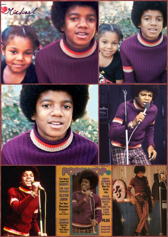 "Janet and Michael Jackson""1972"""