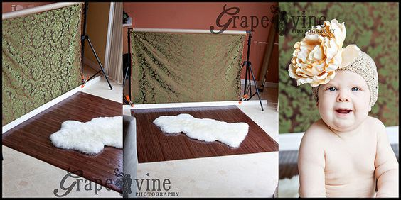 Portable Flooring and Backgrounds for Indoor Photography Set Ups on http://inspiremebaby.com