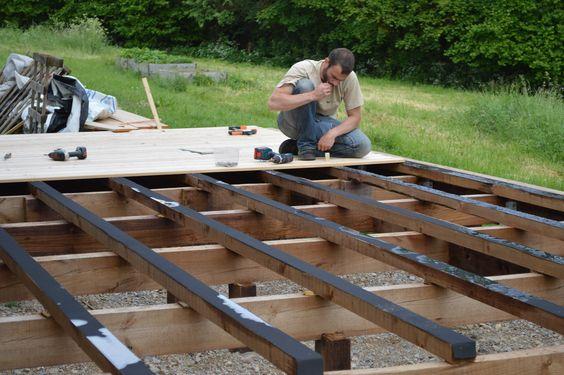 Comment faire soi-même sa terrasse en bois Terrasse Pinterest