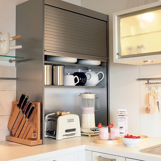 Pinterest the world s catalog of ideas for Appliance garage kitchen cabinets