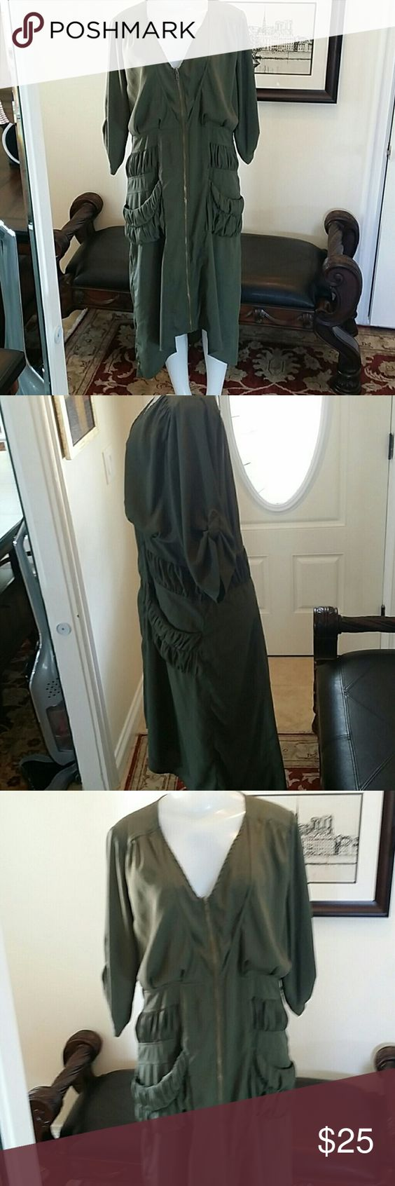 Military High Low Zip Front Dress Good condition Dresses