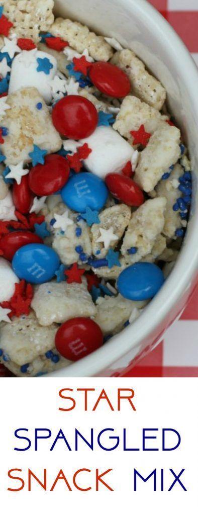Easy Patriotic Recipe: Star Spangled Snack Mix