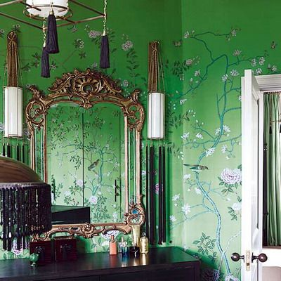 hand painted wallpaper :: chinoiserie wallpaper