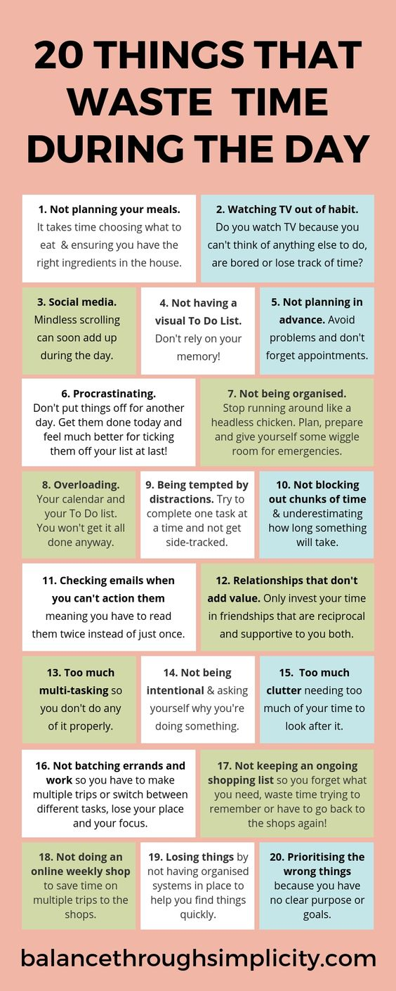 20 things that waste time during the day - Balance Through Simplicity