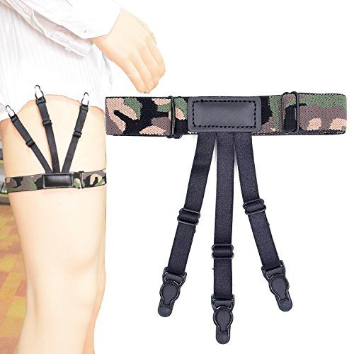 Pair Male Dress Shirt Stays Elastic Y-Straps for Business w// Locking Clamps