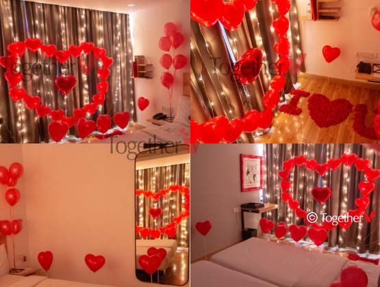Romantic Decoration Surprise At Home Romantic Decor Heart Decorations Simple Birthday Decorations