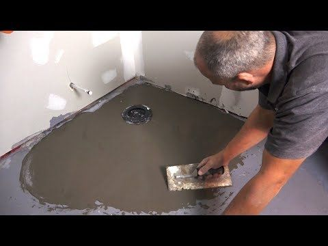 How To Install Floor Leveling Compound On Concrete Youtube