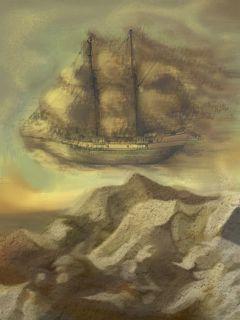 barco fantasma y volador