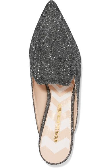 Nicholas Kirkwood Beya Metallic Mesh Slippers Cheap Sale Browse Cheap Sale Limited Edition Cheap Real Finishline Clearance For Sale New Styles qYKjleN