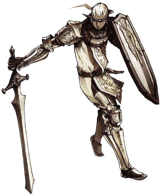 Elvaan Paladin from Final Fantasy XI
