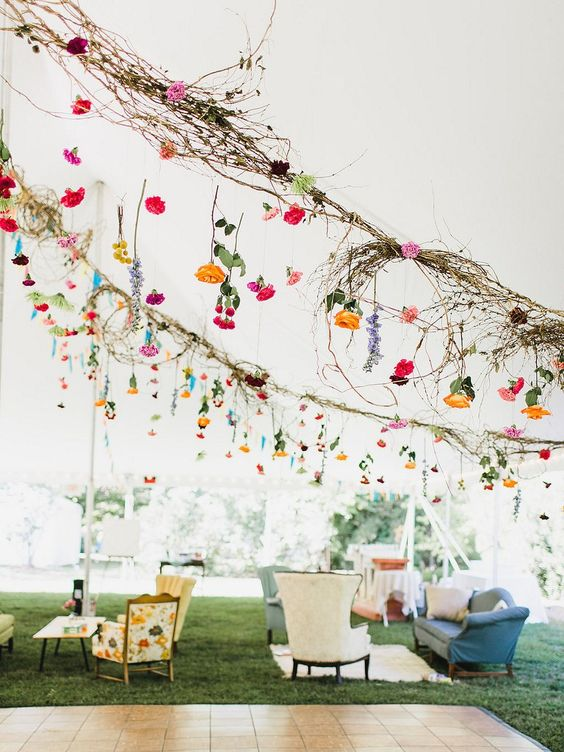 A really special part of the decor were all the felted garlands that hung around the reception and ceremony. Family and friends from around the world created these, sending packages full of felted …