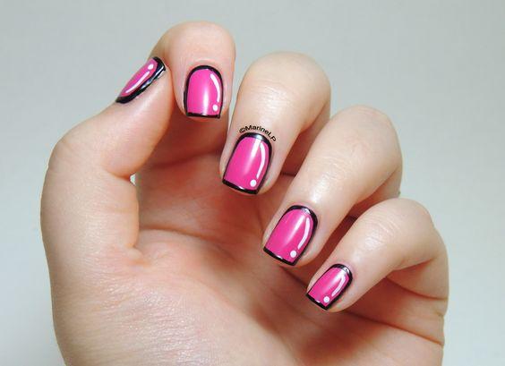 Cartoon nails (Cutepolish inspired) - Avril Rose Bollywood