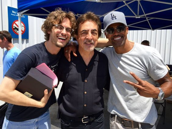 After our table read a VIP Guest stopped by! #CriminalMinds #SeasonXII @GUBLERNATION @JoeMantegna @shemarmoore