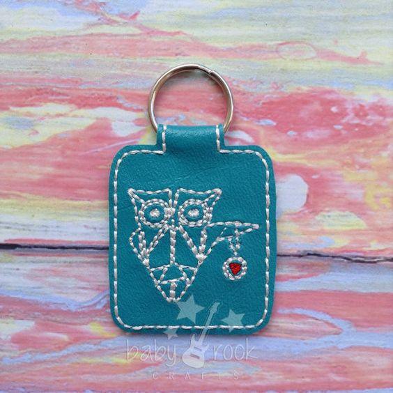 Origami owl key chain vinyl by BabyRockCraftsRTS on Etsy, $5.00