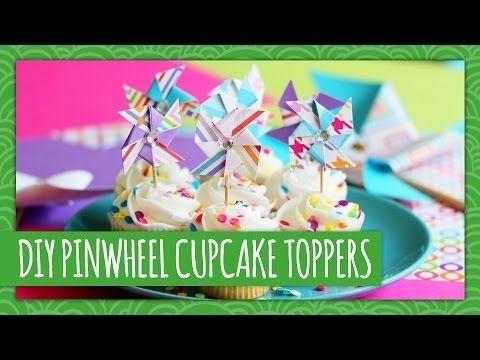 DIY Pinwheel Cupcake Toppers  - HGTV Handmade