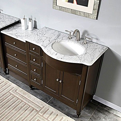 Nona Single 58 Inch Transitional Modular Bathroom Vanity