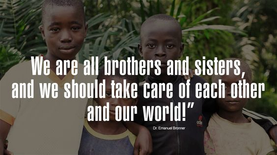 Fairtrade, allone, Dr.Bronner Magic Soaps, We are all brothers ans sisters, an we should take care of each other an our world. www.drbronner.de