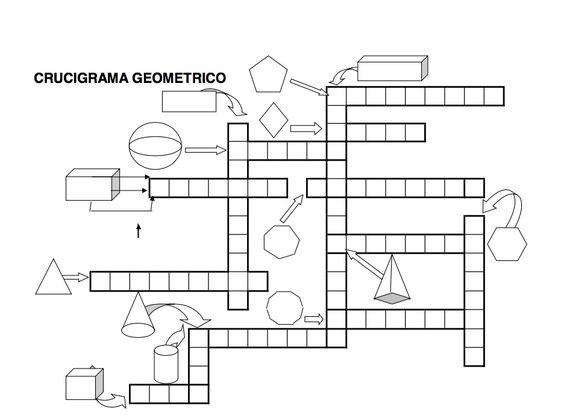 Spanish. crucigrama geométrico