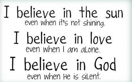 I believe in God(: