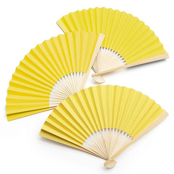 would it be cute to have these on the tables in case it gets hot. could be a combo of gray and yellow