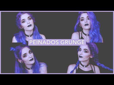 4 Peinados Grunge y Tumblr fáciles y rápidos - YouTube