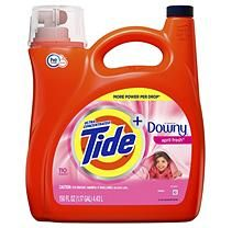 Tide Plus Downy April Fresh Scent Liquid Laundry Detergent 150 Oz 110 Loads Sam S Club Laundry Detergent Liquid Laundry Detergent Tide Laundry Detergent