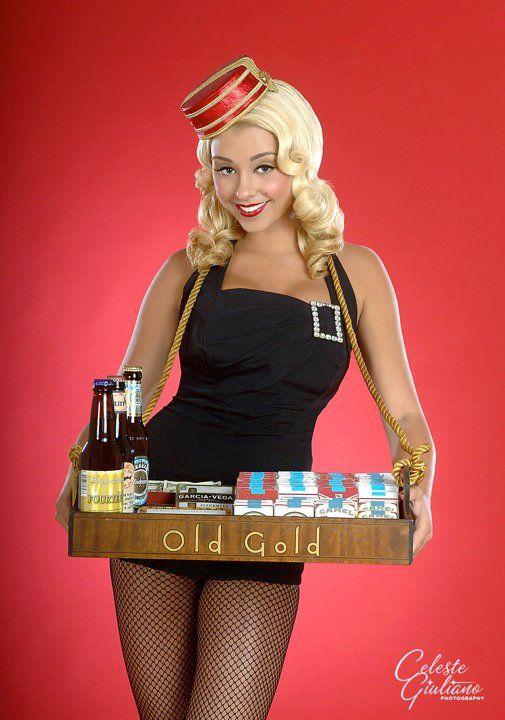cigarette girl cute costume idea holiday cheer