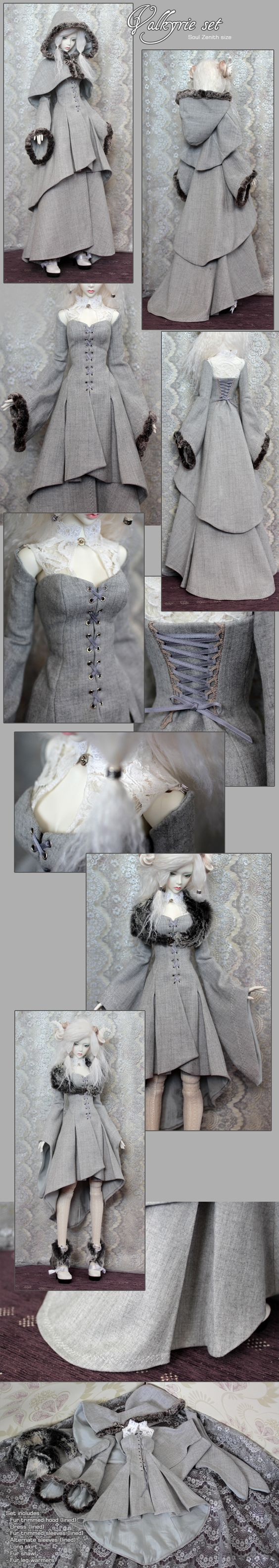 Sigrun's Valkyrie Set by *yenna-photo on deviantART - pretty sure this is for a doll but want this outfit so badly!