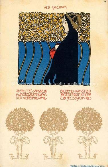 Litho Ver Sacrum # 7 Kolo Moser 1898