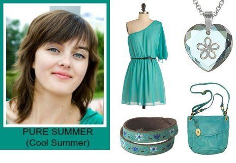 Pure Summers, otherwise known as Cool Summers, wear the classic soft cool colors associated with the Summer season. It is the summer whose colors are the most saturated and pure compared to the other Summer seasons (no hint of warmth).