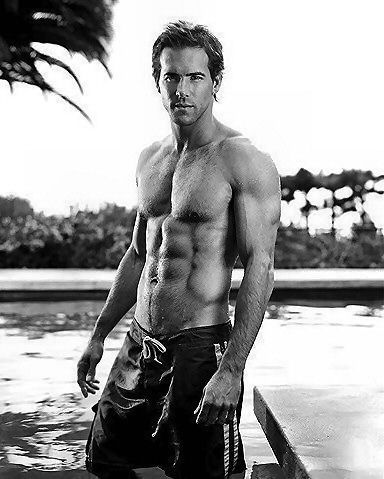 Ryan Reynolds. How are abs like this even possible?