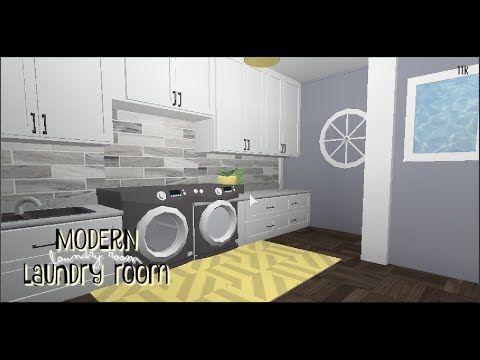 Roblox Bloxburg Laundry Room Tutorial Youtube Living Room